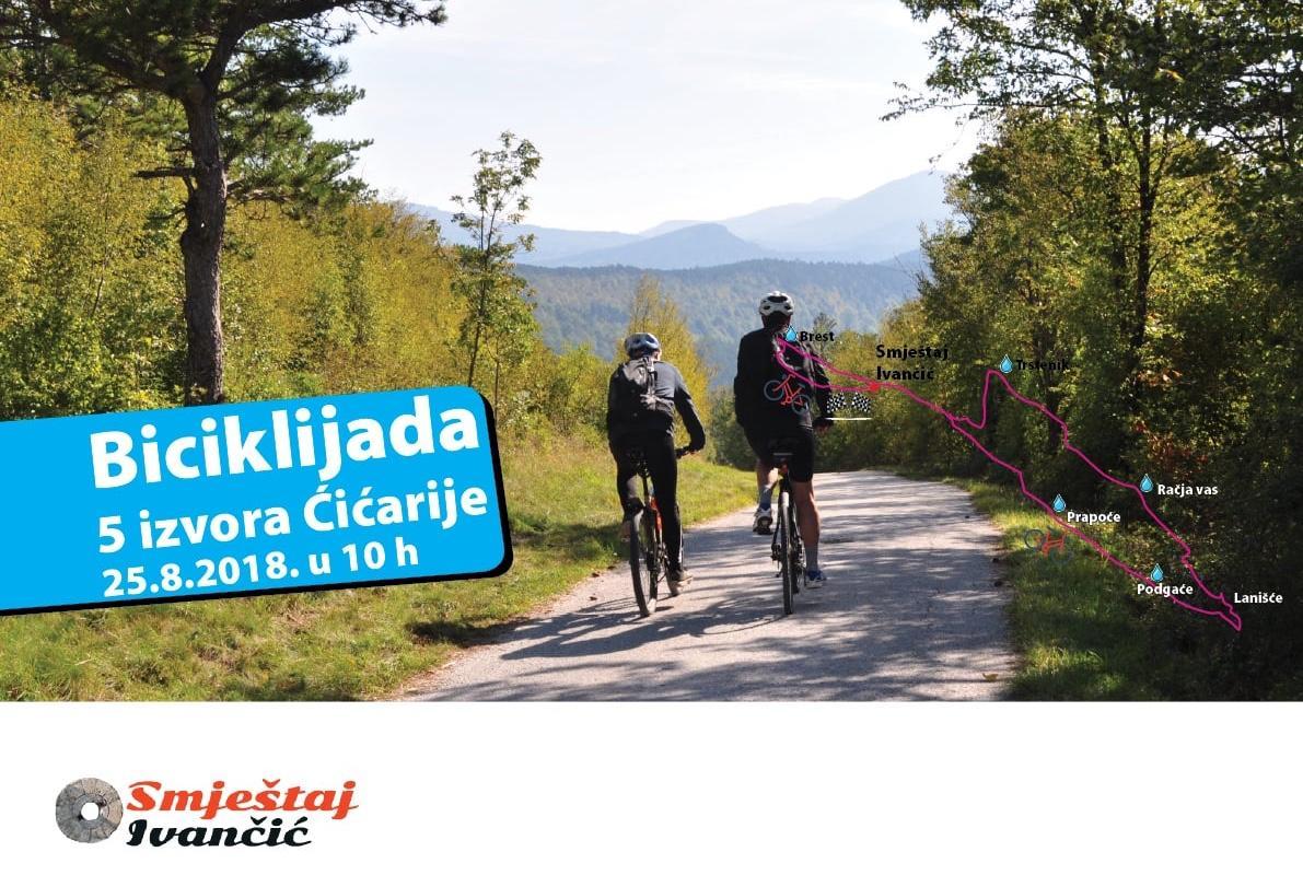 Biciklijada 5 izvora Cicarije plakat v4